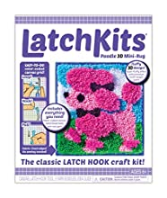 LatchKits Mini-Rug Sewing Kit The Classic Latch Hook Craft Kit - Poodle 3D