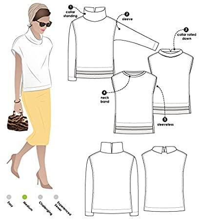Style Arc Sewing Pattern - Esme Designer Knit Top (Sizes 18-30) - Click for Other Sizes Available