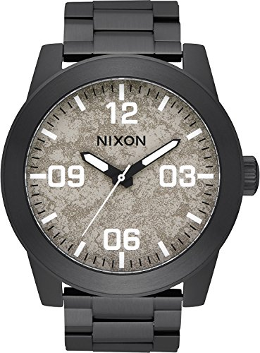 Nixon Unisex Corporal SS Black/Concrete One Size by NIXON