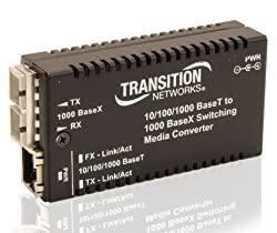 Transition Networks M/GE-PSW-SX-01-NA Stand-Alone - Fiber media converter - Ethernet, Fast Ethernet, Gigabit Ethernet - 10Base-T, 1000Base-SX, 100Base-TX, 1000Base-T - RJ-45 / SC multi-mode - up to 18