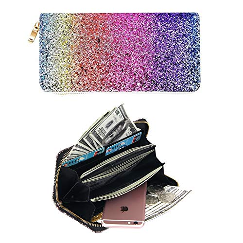 Badiya Fashion Glitzy Glamorous Glitter Bling Wallet Women Zip Around Clutch Purse from Badiya
