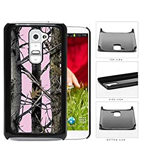 Pink Screen Woods Camo Hard Plastic Snap On Cell Phone Case LG G2