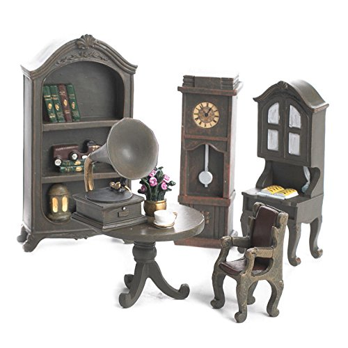 Factory Direct Craft 6 Piece Tiny and Very Detailed Miniature Living Room Furniture Dollhouse Set for Decorating, Embellishing and Creating