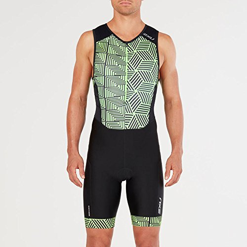 Perform Zip Front Green Neon Black geo 2xu AqaxwdA
