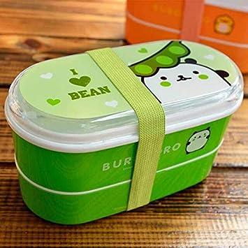 FIOLTY Caja de Almacenamiento de Viajes Bento Box Doble Capa ...