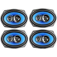 4) Q Power 6x9 700 Watt 3-Way Car Audio Stereo Coaxial Speakers Four | QP693