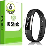 Fitbit Alta Screen Protector, IQ Shield® LiQuidSkin (6-Pack) Full Coverage Screen Protector for Fitbit Alta HD Clear Anti-Bubble Film - with Lifetime Warranty