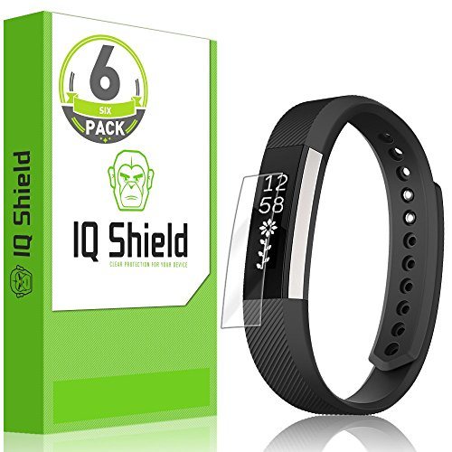 Fitbit Alta HR Screen Protector (2017,Compatible w/Fitbit Alta 2016, Fitbit Ace 2018), IQ Shield LiQuidSkin (6-Pack) Full Coverage Screen Protector for Fitbit Alta HR HD Clear Anti-Bubble Film