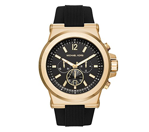 Michael Kors Men's Goldtone And Black Dylan Watch