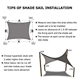 Shade&Beyond 8'x10' Sun Shade Sail Rectangle Canopy