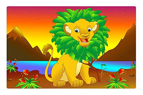 (Indoor Floor Rug/Mat (23.6 x 15.7 Inch) - Simba The Lion King Walt Disney Film Cartoon)