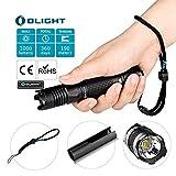 OLIGHT M1X 1000 Lumens Cree XM-L2 LED Flashlight Double Switch Tail Switch 18650