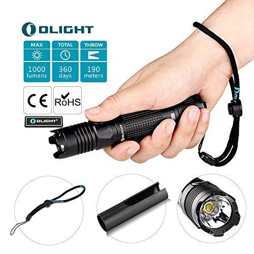 OLIGHT M1X 1000 Lumens Cree XM-L2 LED Flashlight Double Switch Tail Switch 18650 Battery Flashlight
