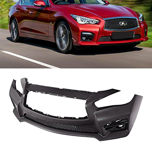 For 2014-2017 Infiniti Q50 Red Sport Front Bumper Conversion Hybrid 4Dr Q 50