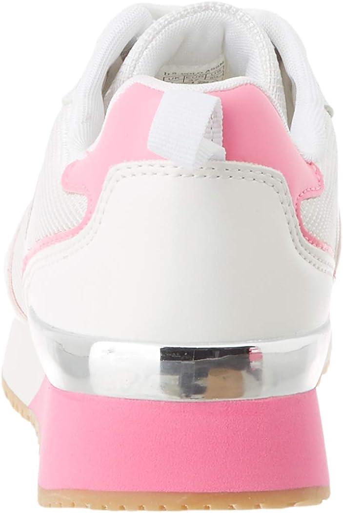 U.S.POLO ASSN. Women's Low-Top Gymnastics Shoes Multicolour Whi Fux 057