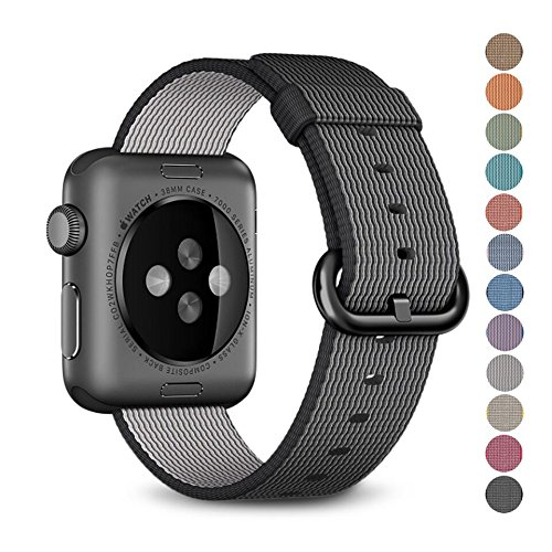 Woven Nylon Replacement Band for the Apple Watch by Pantheon, Women's or Men's, Strap fits the 38mm or 42mm for Apple iWatch 1, 2, 3 and Nike edition
