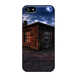 New Premium Charming YaYa Old Commercial Building In Sunset Hdr Skin Case Cover Excellent Fitted For Iphone 5/5s
