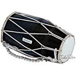 Dholak-Drum-by-Maharaja-Musicals-Black-Mango-Wood-Rope-tuned-Padded-Bag-Spanner-Dholki-Musical-Instrument-PDI-CJB