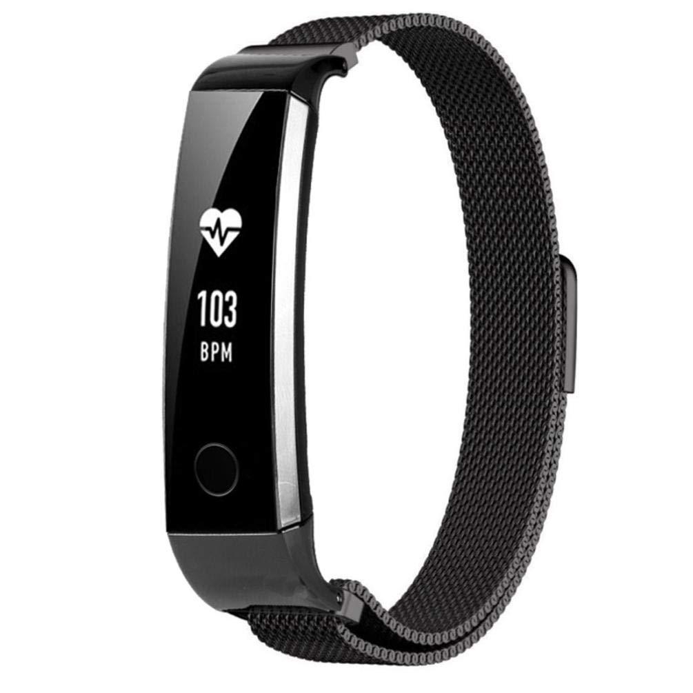 Bestow Huawei Honor 3 Milanese MagnšŠtica Banda de Acero Inoxidable Correa de Banda Banda Brazalete Reloj Inteligente Electronics Gadgets Reloj de ...