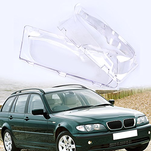 (Possbay Headlight Lens Cover, Headlamp Lens Glass Replacement for BMW 3-Series E46 Sedan 2001-2005 Facelift )