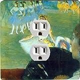 Rikki Knight 3364 Outlet Edgar Degas Art Dance with Bouquet Design Outlet Plate