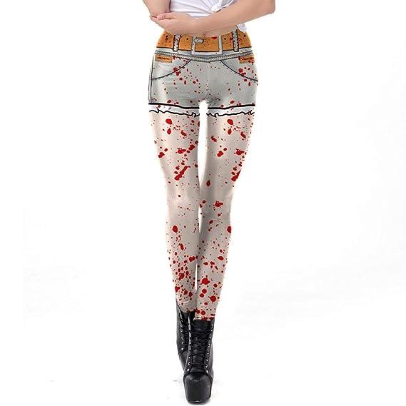 Pantalones Mujer, ASHOP Feliz Halloween Fantasmas Impresión ...