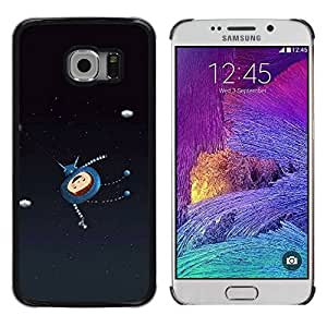 Cubierta protectora del caso de Shell Plástico || Samsung Galaxy S6 EDGE SM-G925 || Cartoon Character Happy Astronaut @XPTECH