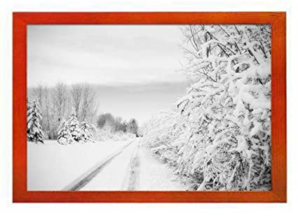 Amazon Pupbeamo Road Winter Art Print Picture Frame Photo