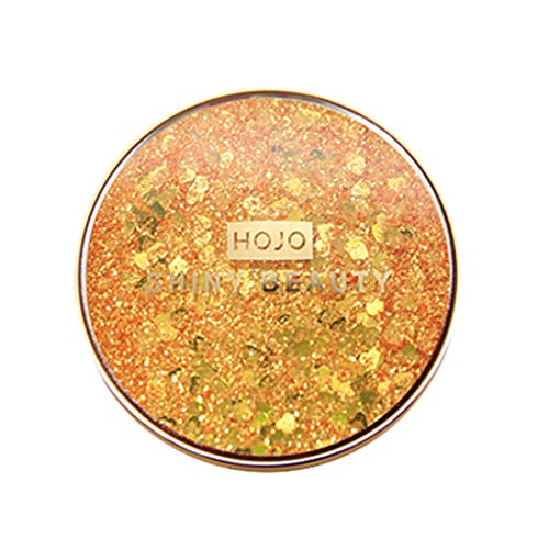 - E_Vicia Cosmetic Shimmer Eyeshadow Pressed Pearl Glitter Makeup Shiny Palette Shimmer Set 11 Color Eyeshadow (Gold)