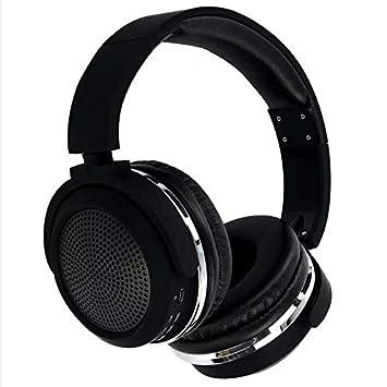 HHLUW Heavy Bass Bluetooth Auriculares HiFi Auriculares inalámbricos Auriculares Bluetooth Cancelación de Ruido - Negro,