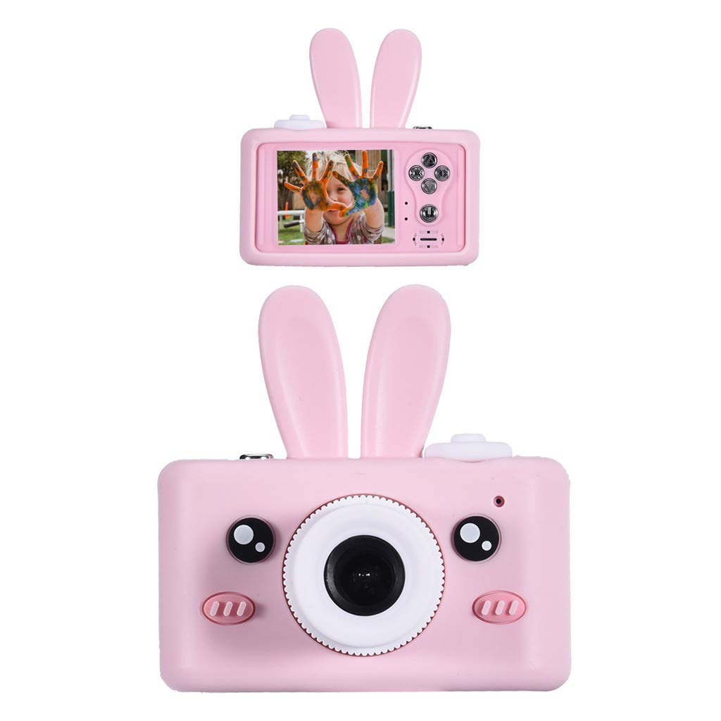Kids Rechargeable 8MP Camera, lotteQW Children Digital Camera 1080P Video Shatterproof Dustproof with Rabbit Cover for Outdoor Use by lotteQW-toy