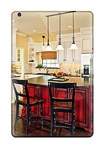 VTHNaPo29979KIOPW Kitchen With White Cabinets And Red Island Fashion Tpu Mini/mini 2 Case Cover For Ipad
