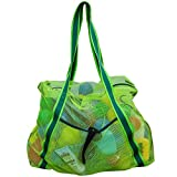 Leberna Large Mesh Beach Bag Foldable Lightweight Heavy Duty Toys Tote Bag Review