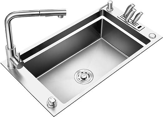 Spültisch 1 Becken M 0,7 x 0,6m Edelstahlspültisch Edelstahl Gastro Spüle Tisch