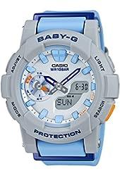 Casio Baby-G CC Series White & Blue Dial Resin Quartz Ladies Watch BGA185-2