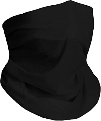 DOLLAYOU Bandana with Filter Reusable Bandanas Washable Anti Dust Pollution Balaclava 1pc Snood Cover With Replacements 7pc Filters