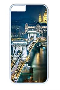 For SamSung Galaxy S6 Case Cover For SamSung Galaxy S6 Case Cover -Szechenyi Chain Bridge Budapest PC For SamSung Galaxy S6 Case Cover White