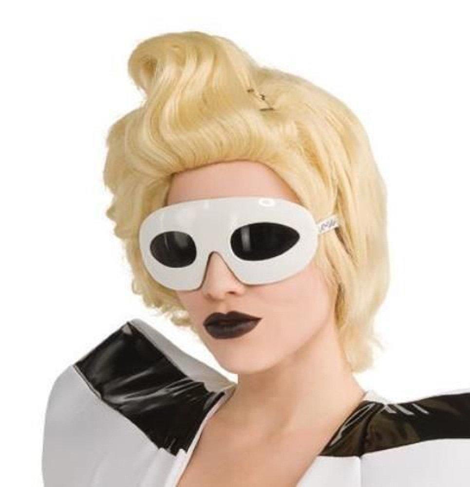 Lady Gaga Sunglasses White Mask Glasses Costume Adult