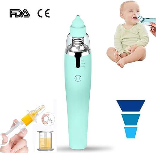 HBIAO Aspirador Nasal Bebe Electrico, Carga USB 2 tamaños Puntas ...