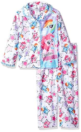 My Little Pony Little Girls' 2-Piece Pajama Coat Set, White Dream, 4 -
