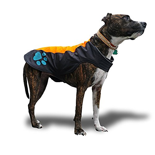SafetyPUP XD Dog Rain Vest - Waterproof Dog Jacket for Large and Small Dogs. Hi Visibility, Reflective Vest with Fleece Lining for Extra Warmth and Protection. Please Take Note of Sizing (Large)