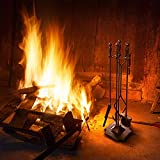Everflying 5 Pieces Fireplace Tools Tool Set