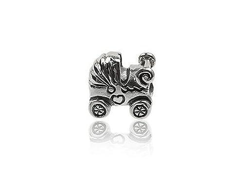 Para cochecito de bebé de plata de ley cuenta para pulsera para tipo Pandora Pulsera ssp2915: Amazon.es: Joyería