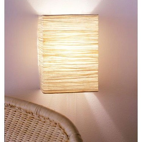 Wallniture Asian Wall Lamp with Toggle Switch Handmade Rice Paper Cream 2 25 Watt Chandelier Bulb Included by Wallniture (Image #2)