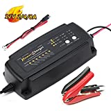 Smart Car Battery Charger Maintainer 12V 2A 4A 8A 7-Stage CE approved fast AGM/SLA/GEL Sealed Lead acid Battery Charger electric lawn mower or garden