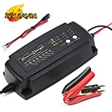 12V 2A 4A 8A Battery Charger 7-Stage Charging for Automotive Boat Lawn Mower Motorcycle RV SLA ATV AGM Gel Cell Lead Acid Batteries