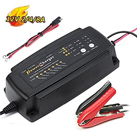 Smart Car Battery Charger Maintainer 7-Stage 12V 5A 24V 3A 36V 2A CE approved Smart fast AGM/SLA/GEL Sealed Lead acid Battery Charger electric lawn mower or - 24v Lead Acid Battery
