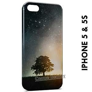 Carcasa Funda iPhone 5/5S Tree & Galaxy Protectora Case Cover