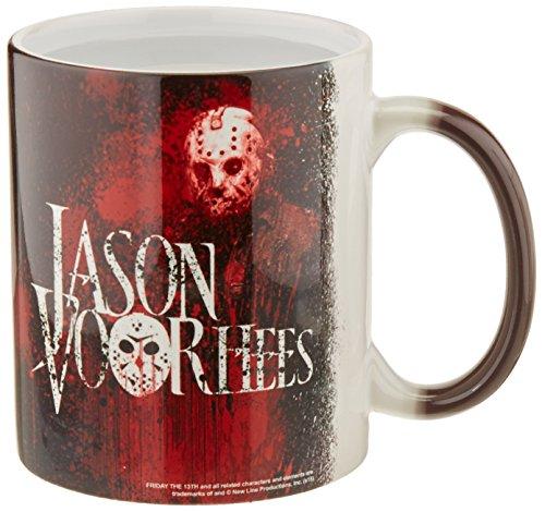 Morphing Mugs Friday the 13th (Jason) Ceramic Mug, Black
