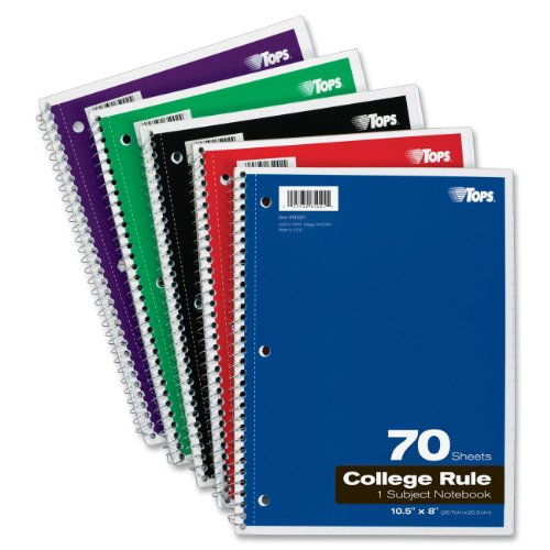 TOPS 1-Subject Spiral Notebooks